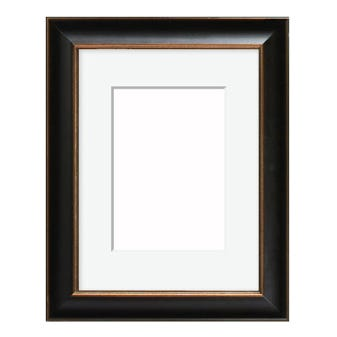 All Inclusive Black Picture Frame With Gold Edge 6AP