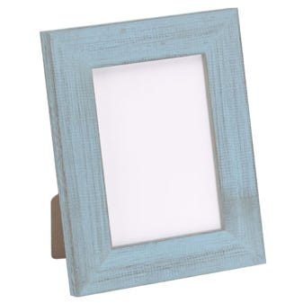 Rustic Light Blue All Inclusive Picture Frame 6BPT