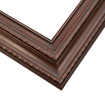 Traditional Dark Cherry Picture Frame With Relief Details 6ETS