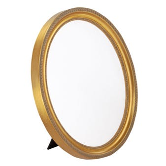 Brushed Gold Oval Picture Frame