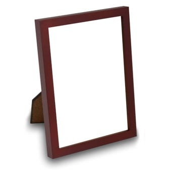 6WTA Walnut finish wood table top Frame with glass