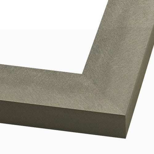 Modern Gray Metal Picture Frame With Cross-Brushed Texture