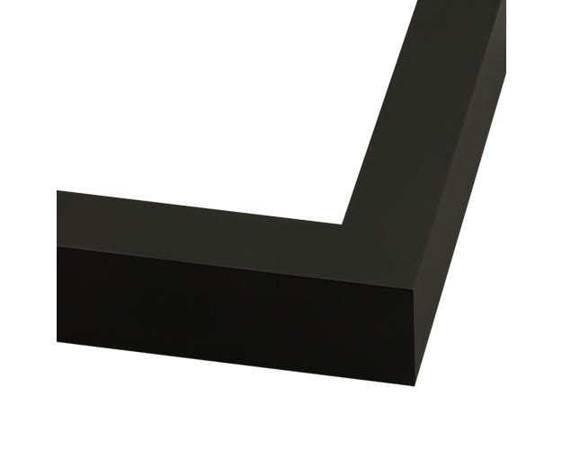 Modern Black Metal Picture FrameWith Flat Profile 711BLK