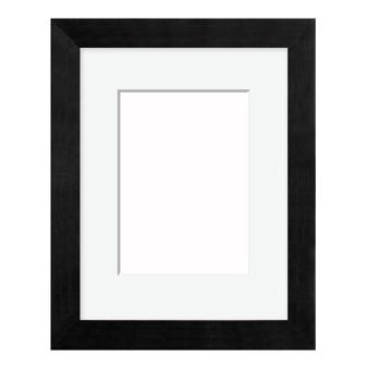 Classic Black Picture Frame With White Mat 7AP
