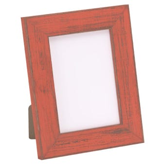 Rustic Orange Tabletop Picture Frame 7BPT