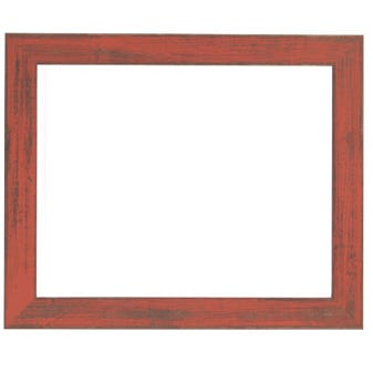 Rustic Burnt Orange Picture Frame With Distressed Finish 7BPW