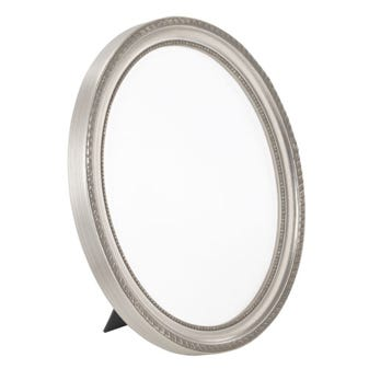 Brushed Silver Oval Picture Frame