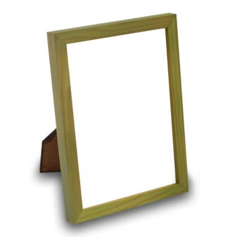 Green Wood Tabletop Picture Frame