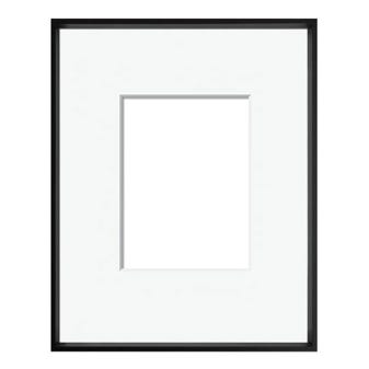 Black Archival Metal Picture Frame W/Mat