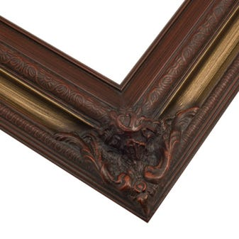 Cherry Picture Frame With Gold Wash And Ornate Corners 9ETL