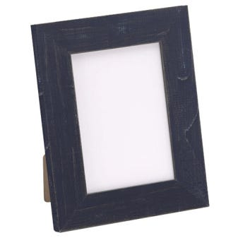 Rustic Navy Blue Picture Frame With Distressed Finish