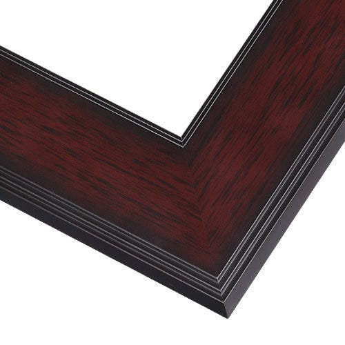Rich Mahogany Picture Frame With Step Details and Flat Face