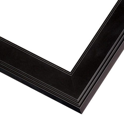 Sophisticated Black Picture Frame WIth Narrow Profile
