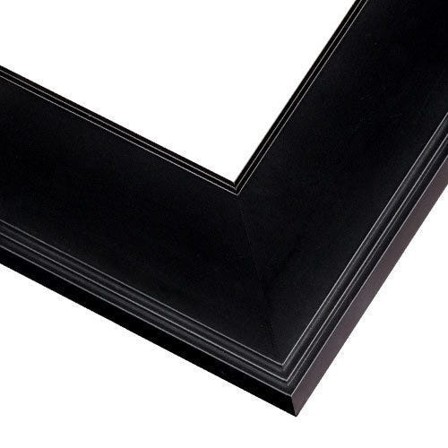 Classic Black Picture Frame With Flat Squared Profile