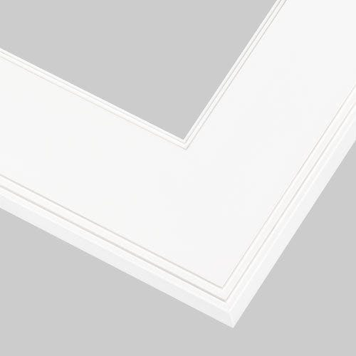 Clean White Picture Frame With Wide Flat Profile AR9