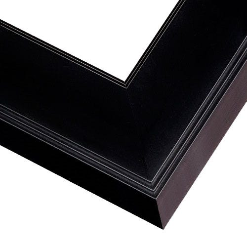 Classic Black Picture Frame With Stepped Edges