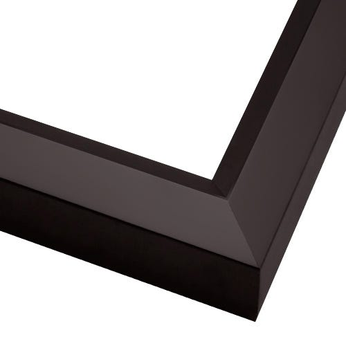 Contemporary Black Picture Frame With Satin Finish And Angled Face BGA12