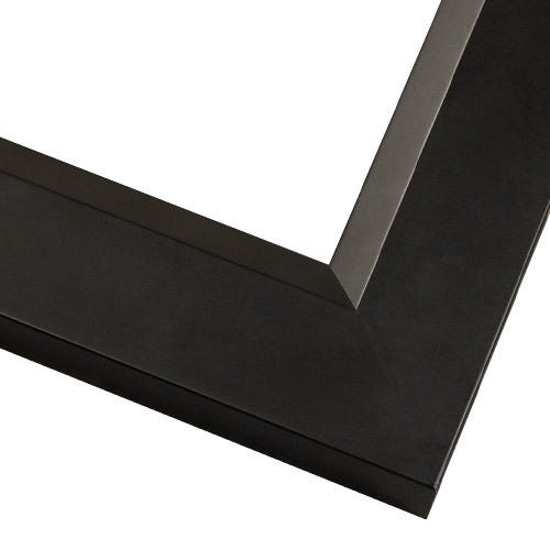 Contemporary Black Picture Frame With Satin Finish And Angled Lip