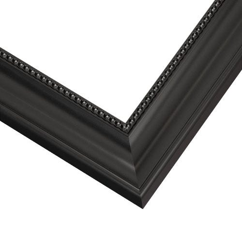 Contemporary Black Picture Frame With Detailed Beaded Edge