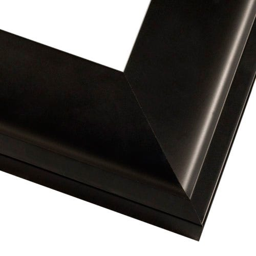 Black Satin Wood Picture Frame With Flat Face and Squared Outer Edge