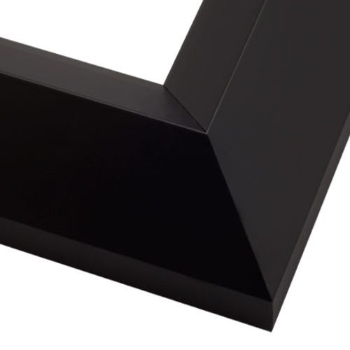 Modern Black Picture Frame With Satin Finish And Angled Profile