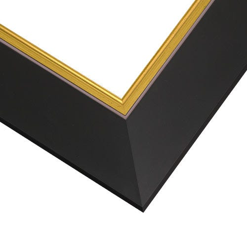 Classic Black Picture Frame With Gold Inner Edge