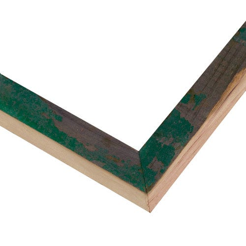 Rustic Green Picture Frame With Two-Toned Finish BLE13
