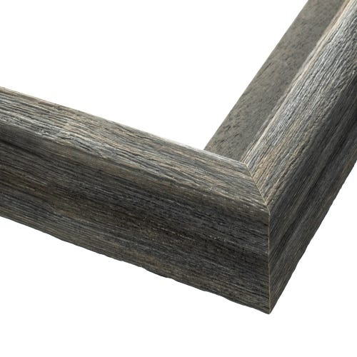 Rustic Gray Canvas Floater Frame With Wood Grain Finish