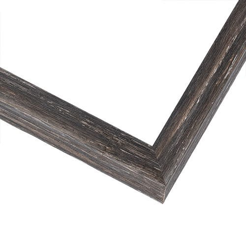 Rustic Gray Picture Frame With Weathered Finish