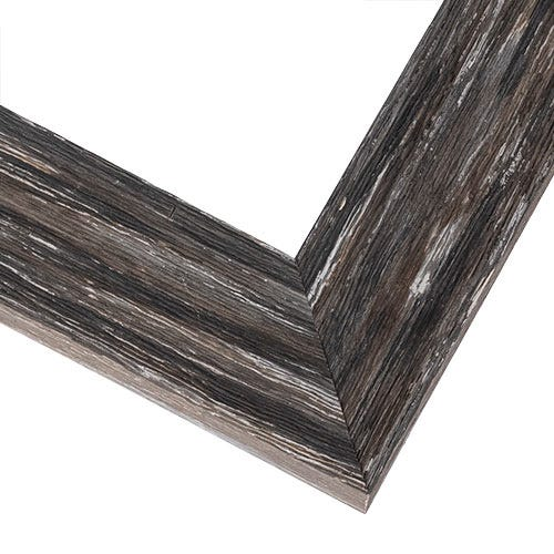 Modern Rustic Gray Picture Frame With Weathered Finish