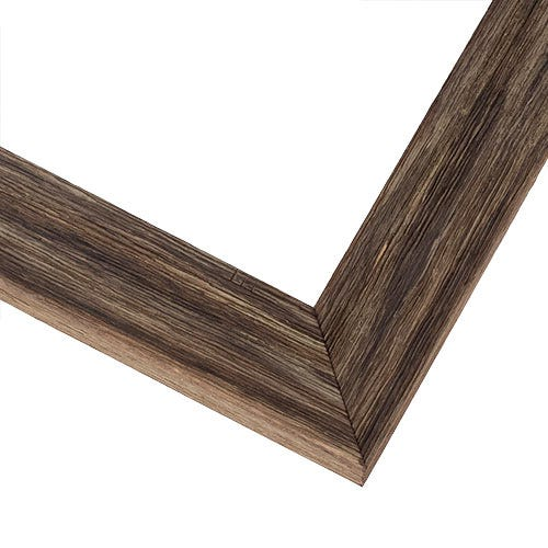 Rustic Brown Picture Frame With Grooved Distressing BNS3