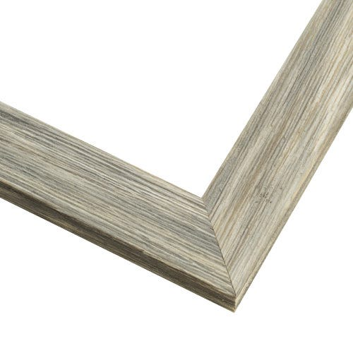 Rustic Gray Picture Frame With Whitewashed Distressed Finish