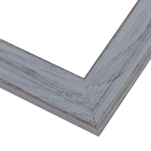 Rustic Gray Picture Frame With Textured Wood Grain