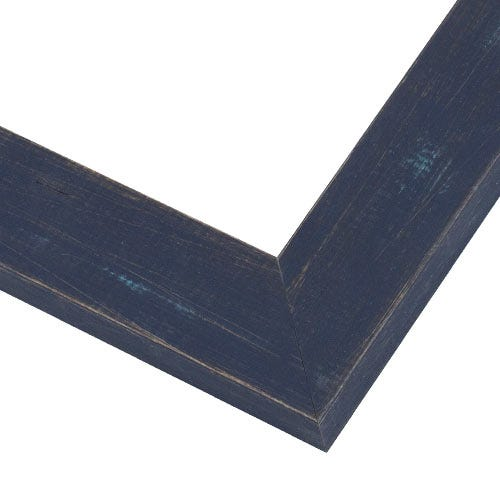 Rustic Navy Blue Picture Frame With Textured Wood Grain BP9
