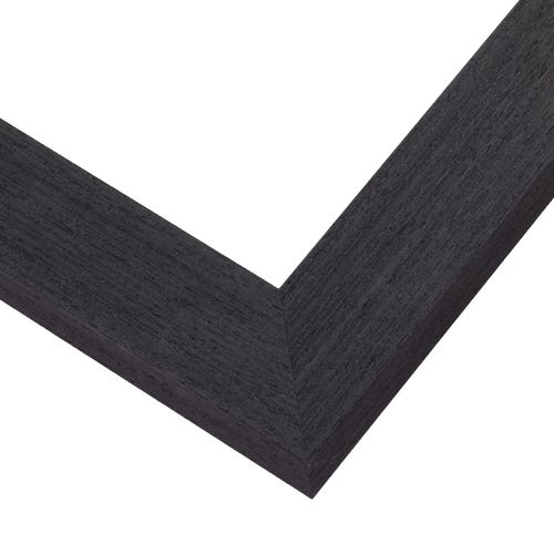 Rustic Charcoal Hued Picture Fram With Natural Veneer