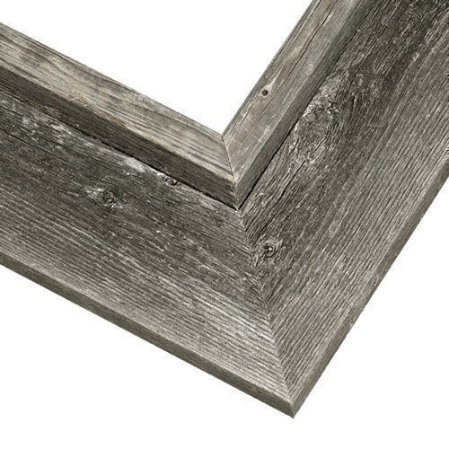 Rustic Gray Picture Frame With Raised Inner Edge BWC2