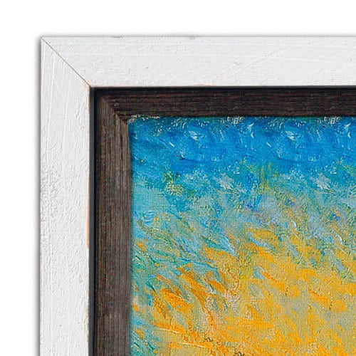 Rustic Whitewash Canvas Floater Picture Frame With Natural Weathering BWF3