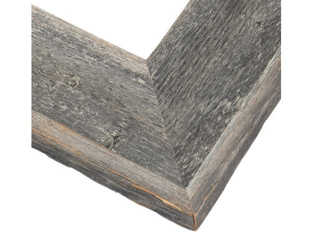 Rustic Reclaimed Gray Picture Frame With Natural Weathering