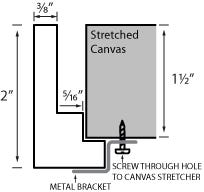 Modern Cherry Canvas Floater Frame Profile Diagram Drawing