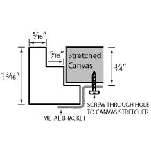 Modern Pecan Canvas Floater Frame Profile Diagram Drawing