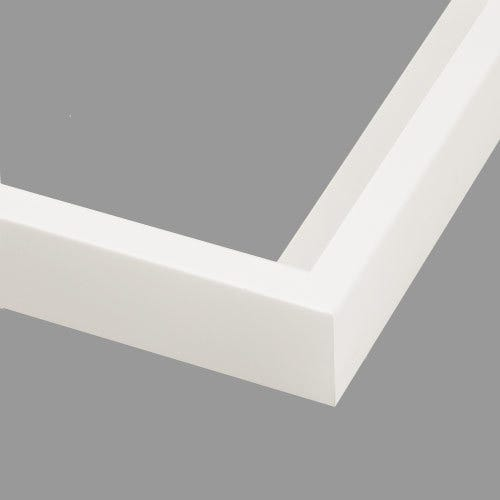 Modern White Canvas Floater Frame With Satin Finish