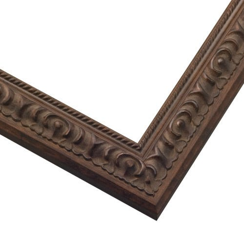 Slim Cocoa Picture Frame With Roping Along Esge CLS2