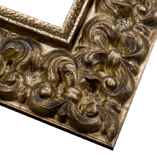 Antique Champagne Picture Frame With Dark Patina And Antique Finish COL4