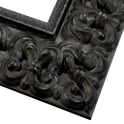 Antique Black Picture Frame With Dark Patina And Antique Finish