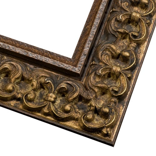Antique Gold Picture Frame With Dark Patina And Antique Finish COS2