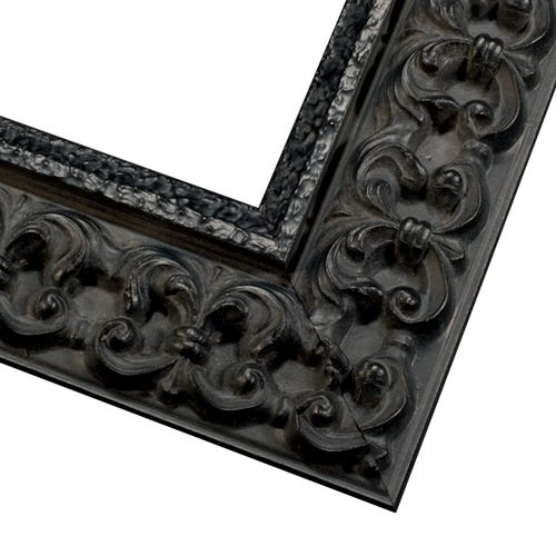 Bold Black Picture Frame With Antique Black Patina