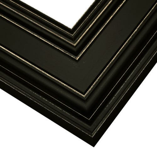 Warm Black Picture Frame With Light Distressing Around Edges CUL4
