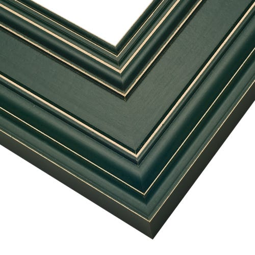 Green Picture Frame With Light Distressing Around Edges