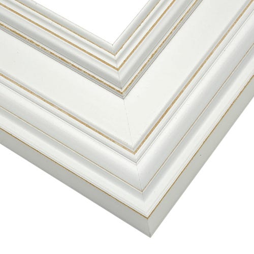 White Picture Frame With Light Distressing Around Edges CUL9