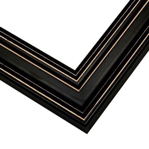 Warm Black Picture Frame With Light Distressing Around Edges
